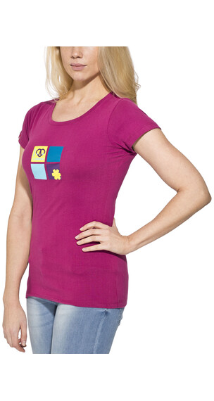 Ocun Pop Art Love Tee Women Berry Viol